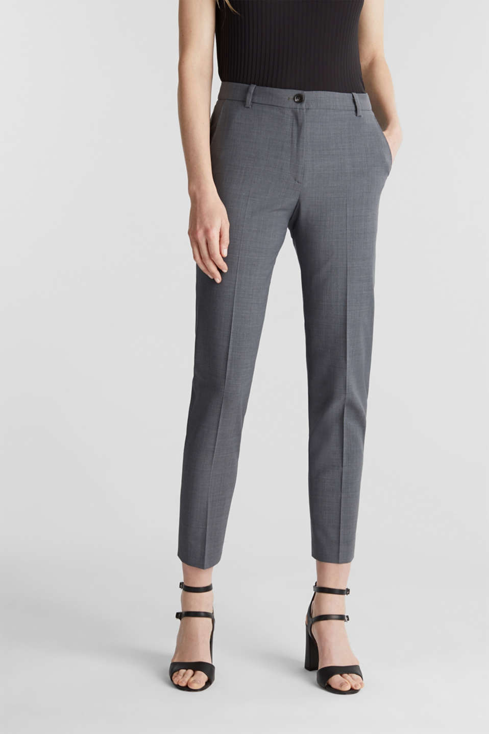 Esprit - With wool: ACTIVE Mix + Match stretch trousers