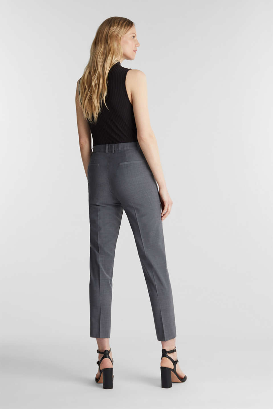 With wool: ACTIVE Mix + Match stretch trousers, GREY 5, detail image number 3