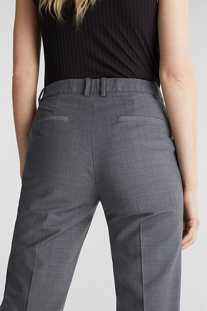 With wool: ACTIVE mix + match trousers, GREY, detail image number 2