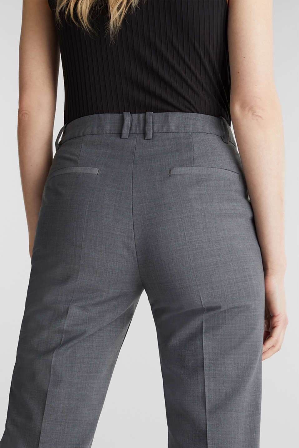With wool: ACTIVE Mix + Match stretch trousers, GREY 5, detail image number 2