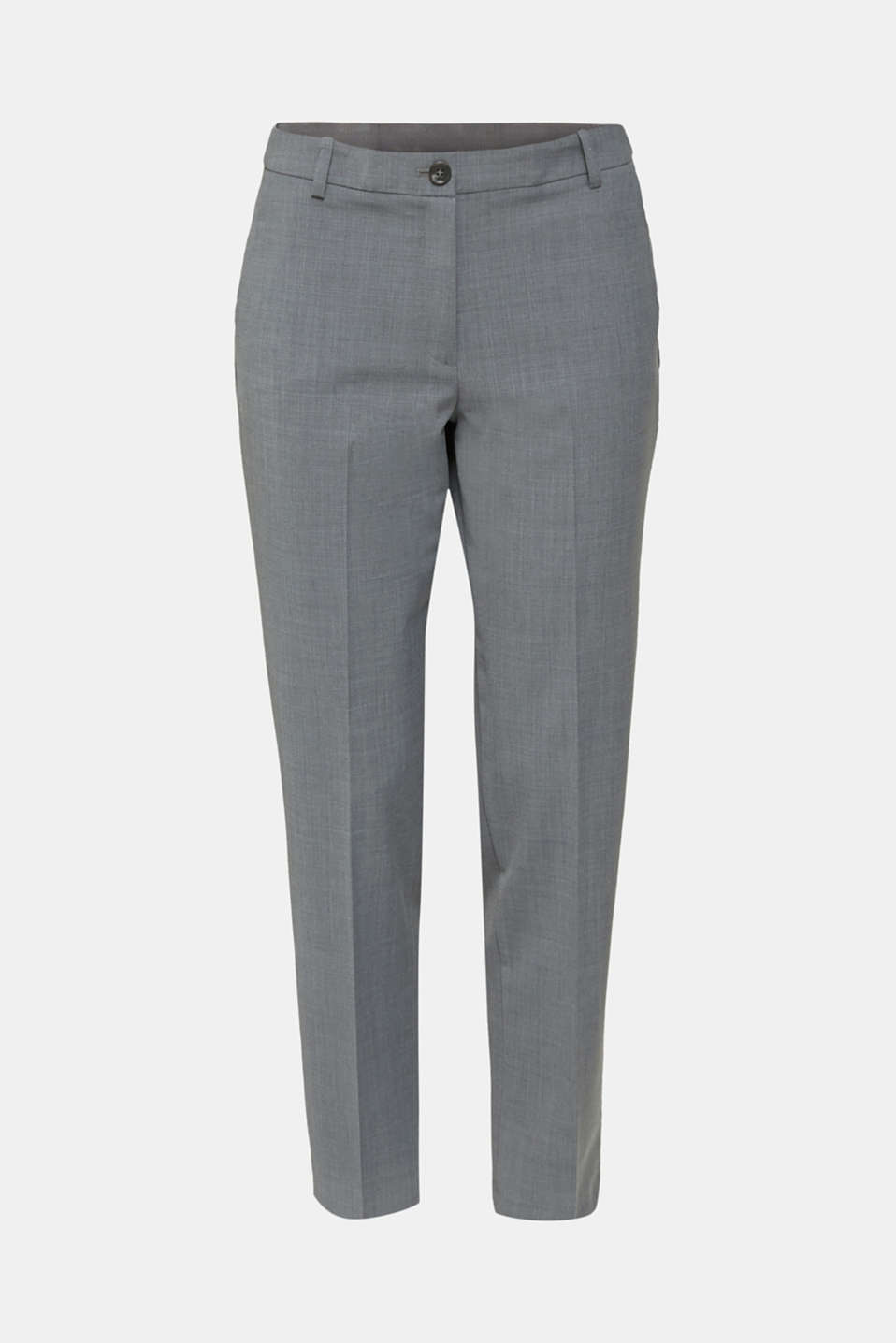 With wool: ACTIVE Mix + Match stretch trousers, GREY 5, detail image number 5