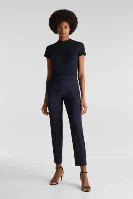 With wool: ACTIVE mix + match trousers, NAVY, detail