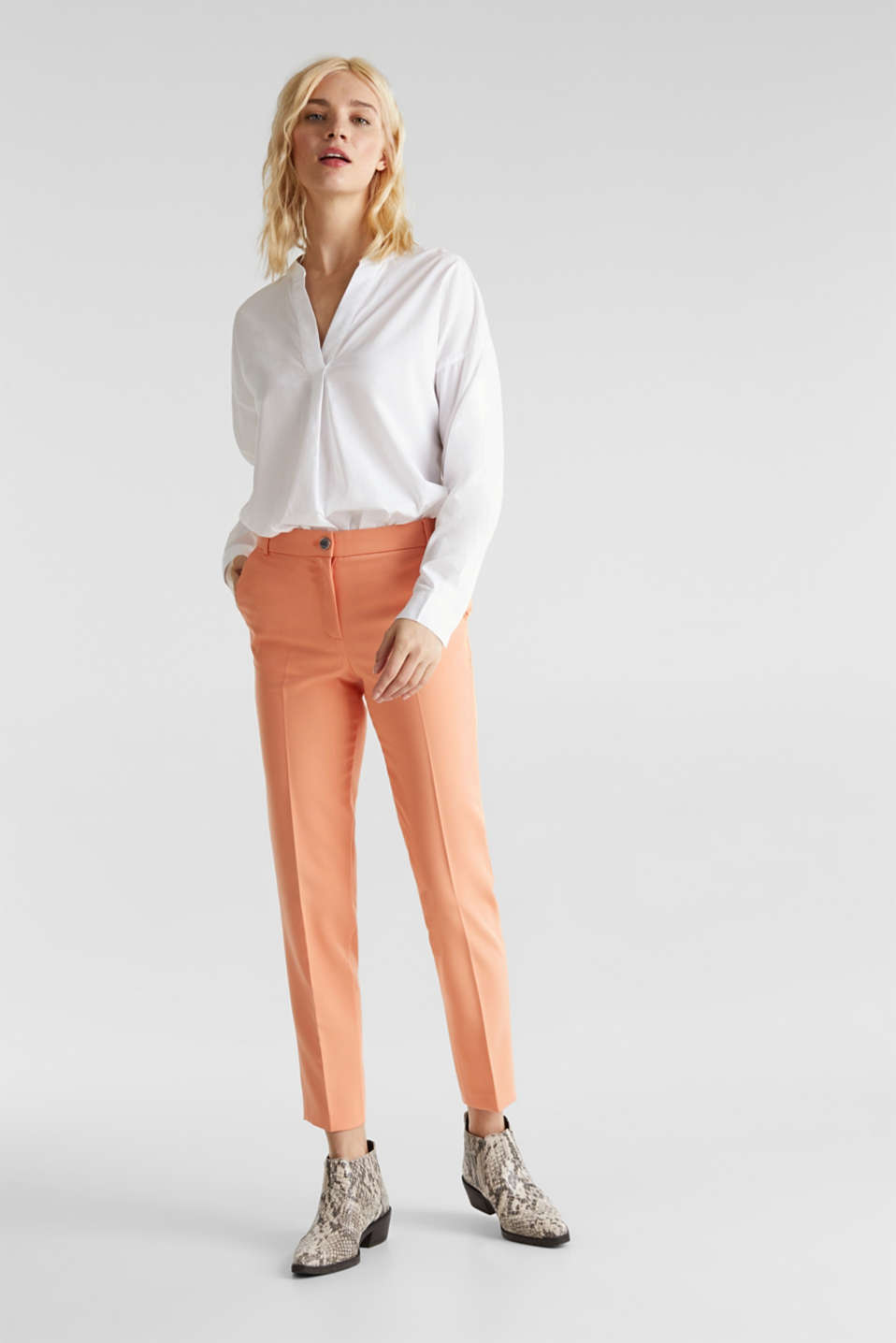 Esprit - SPRING TWILL Mix + Match stretch trousers