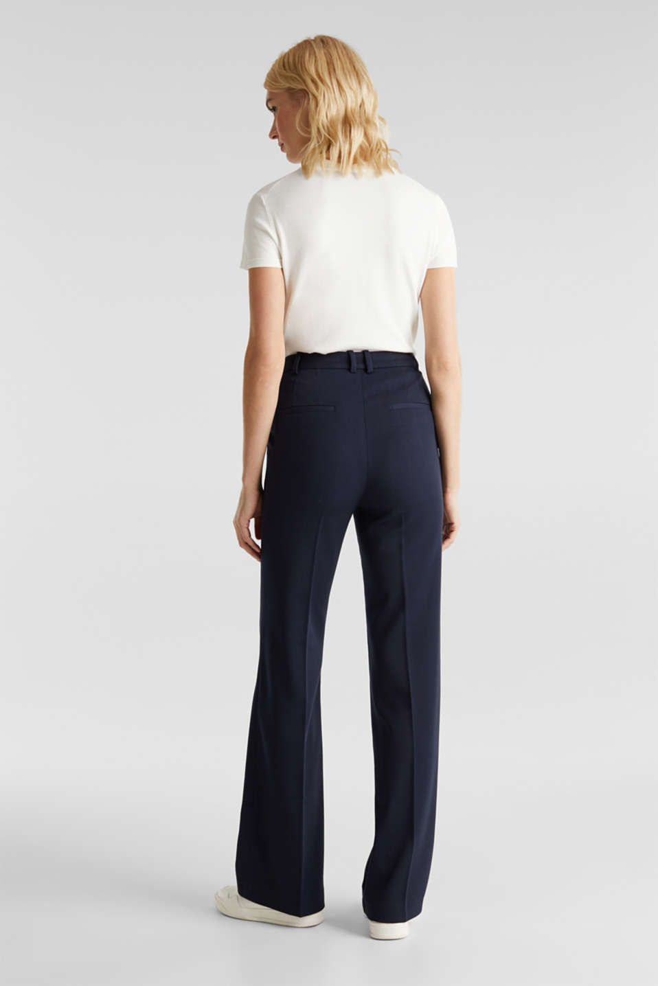HERRINGBONE Mix + Match stretch trousers, NAVY, detail image number 3