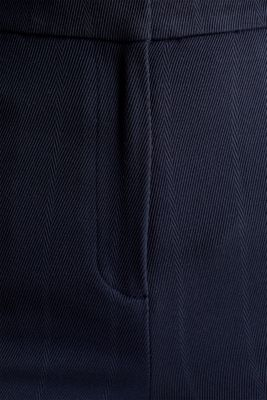 HERRINGBONE Mix + Match stretch trousers, NAVY, detail