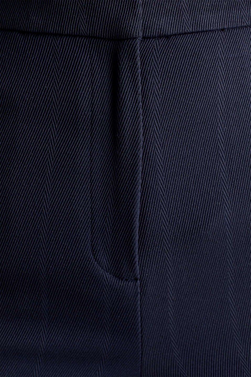 HERRINGBONE Mix + Match stretch trousers, NAVY, detail image number 4