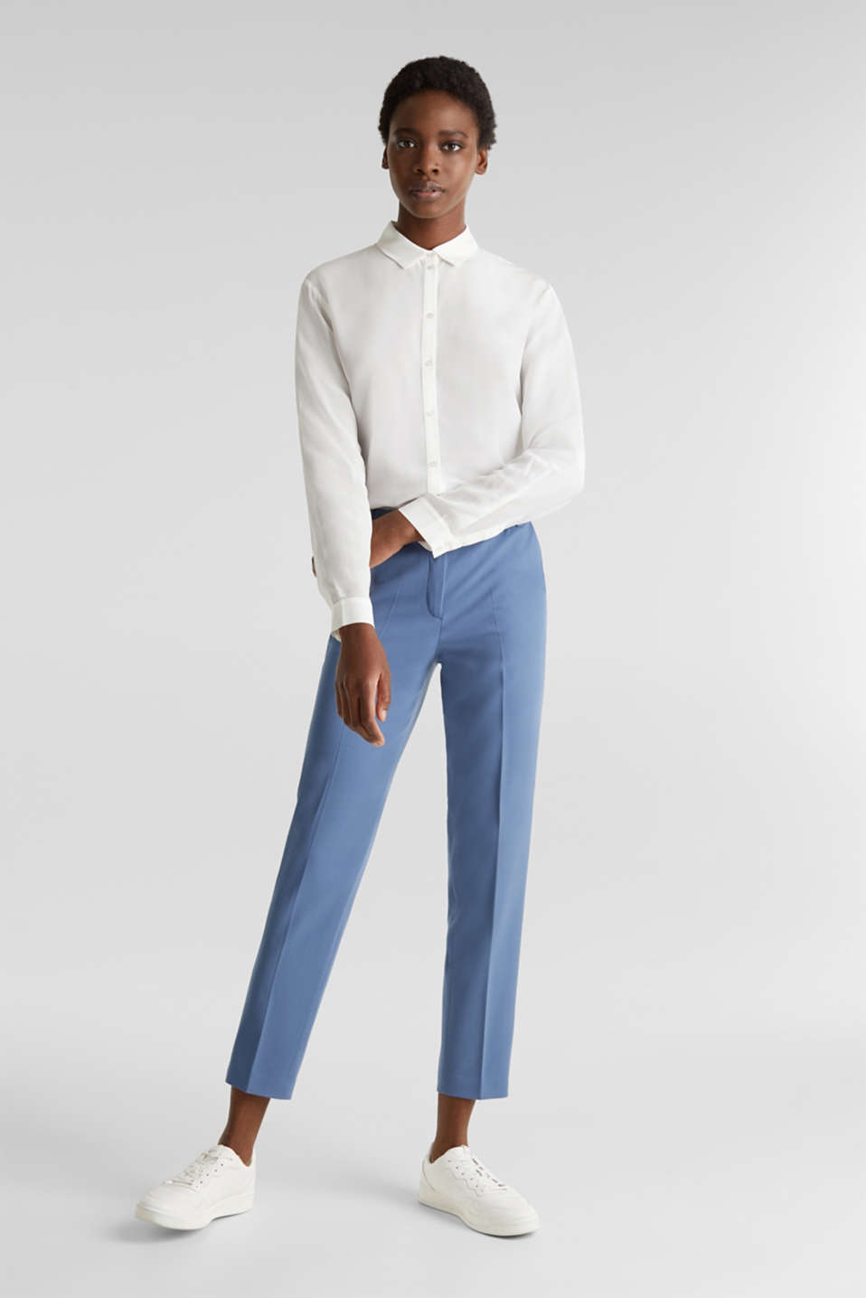 Esprit - Pantalon stretch Mix + Match COLORED TWILL