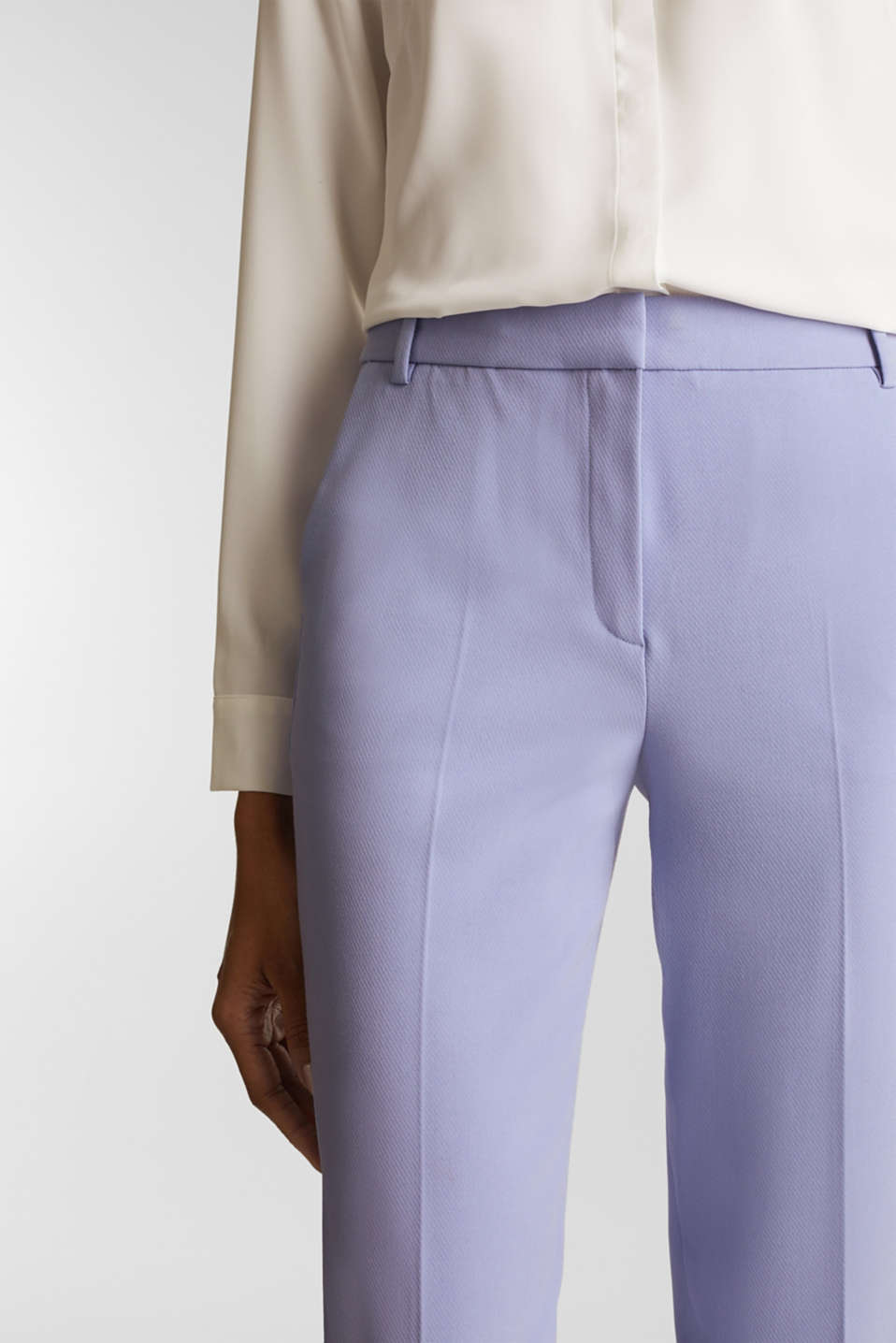 COLORED TWILL mix + match stretch trousers, BLUE LAVENDER, detail image number 2