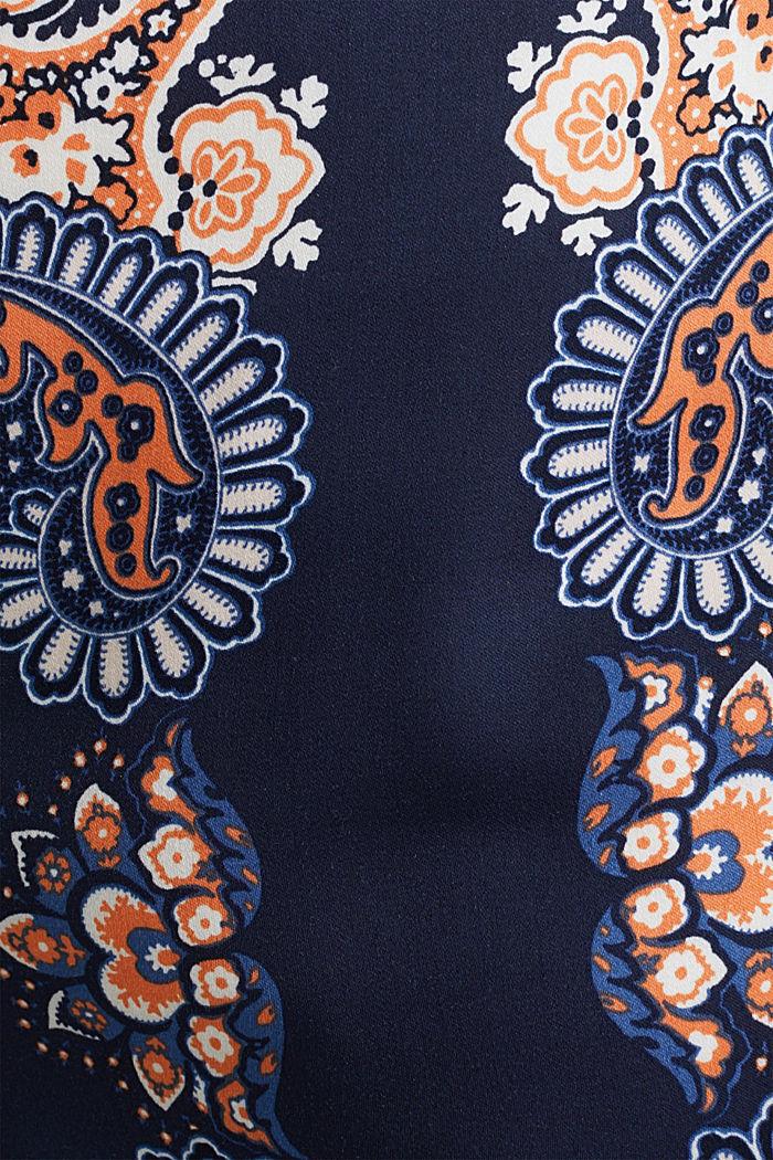 Laskeutuvat Palazzo-housut, joissa painokuvio, NAVY, detail image number 4