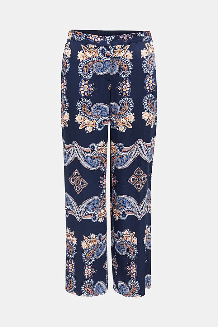 Flowing palazzo trousers with a print