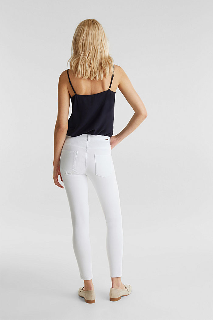 With TENCEL™: bi-stretch trousers, WHITE, detail image number 3