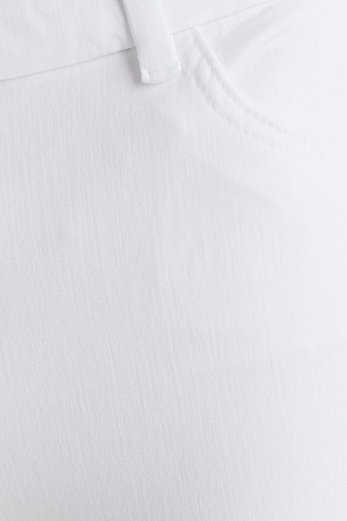 With TENCEL™: bi-stretch trousers, WHITE, detail image number 4