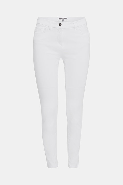 With TENCEL™: bi-stretch ankle length trousers
