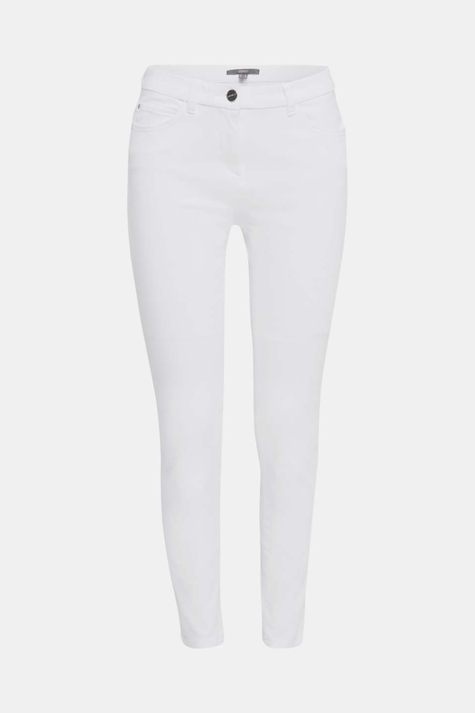 With TENCEL™: bi-stretch trousers, WHITE, detail image number 7