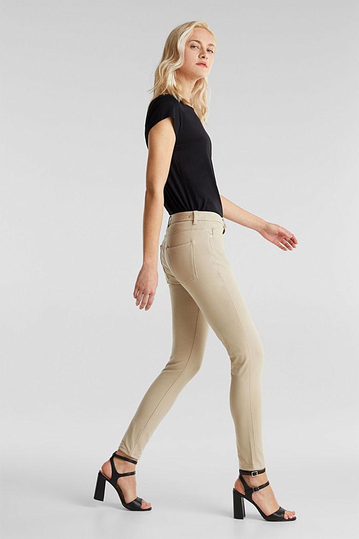 Met TENCEL™: bi-elastische broek, BEIGE, detail image number 0