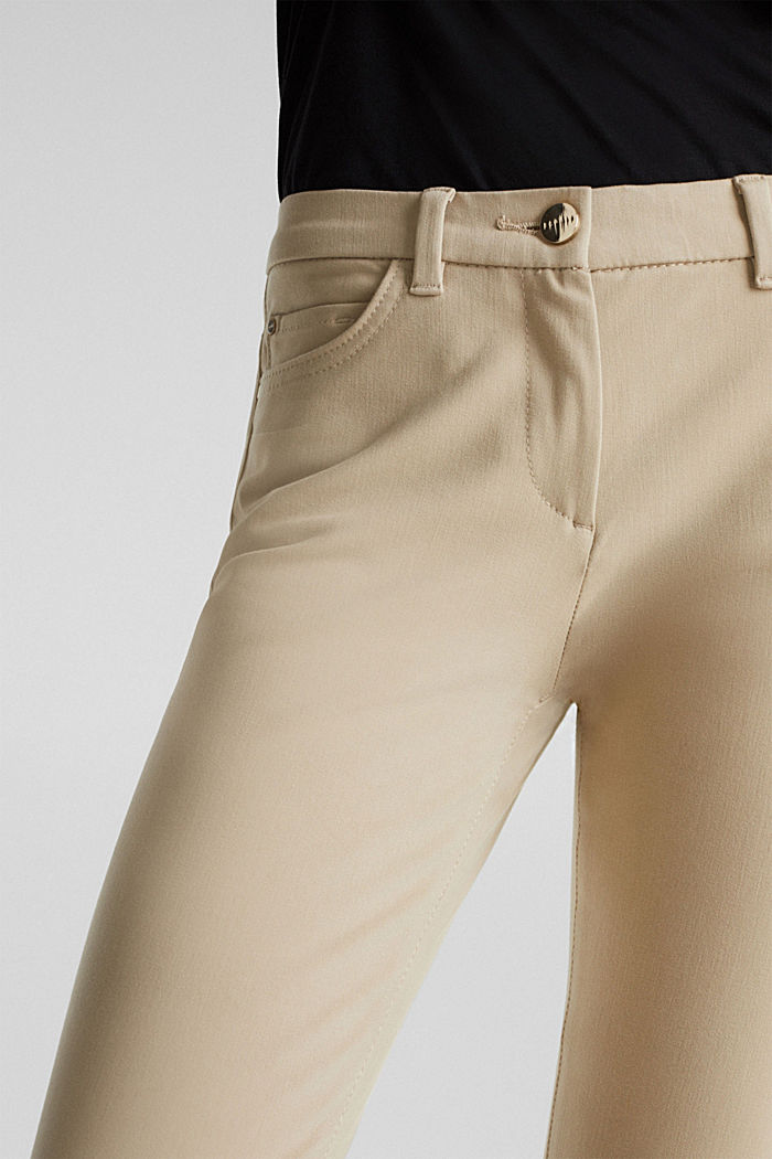 With TENCEL™: bi-stretch trousers, BEIGE, detail image number 2