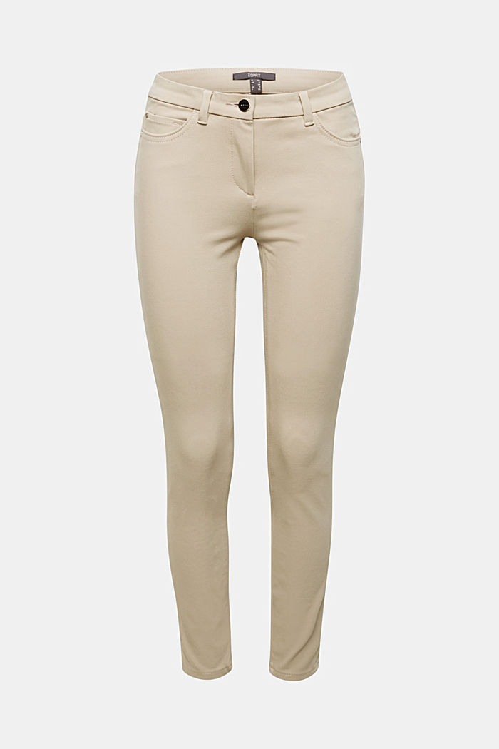 With TENCEL™: bi-stretch trousers, BEIGE, detail image number 6
