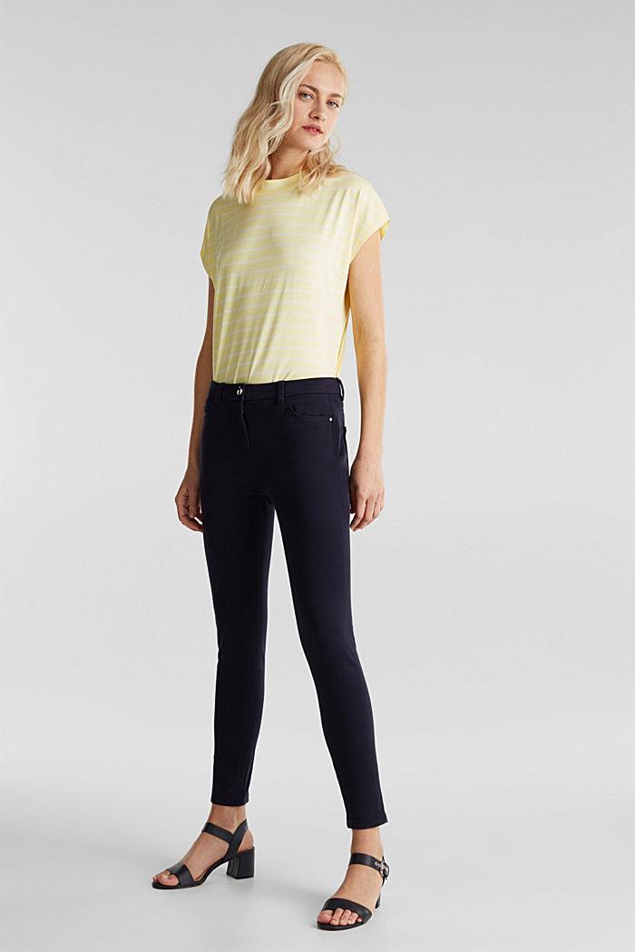 Con TENCEL™: pantalón bielástico, NAVY, detail image number 1