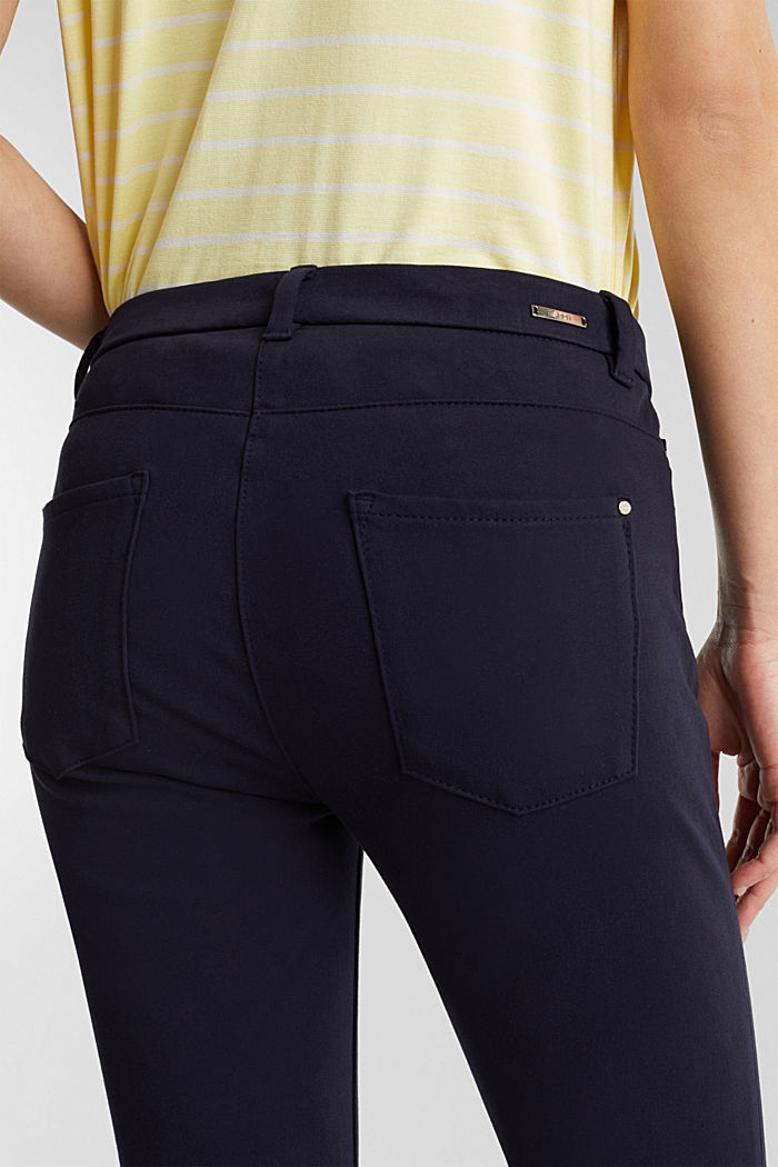 With TENCEL™: bi-stretch trousers, NAVY, detail image number 5