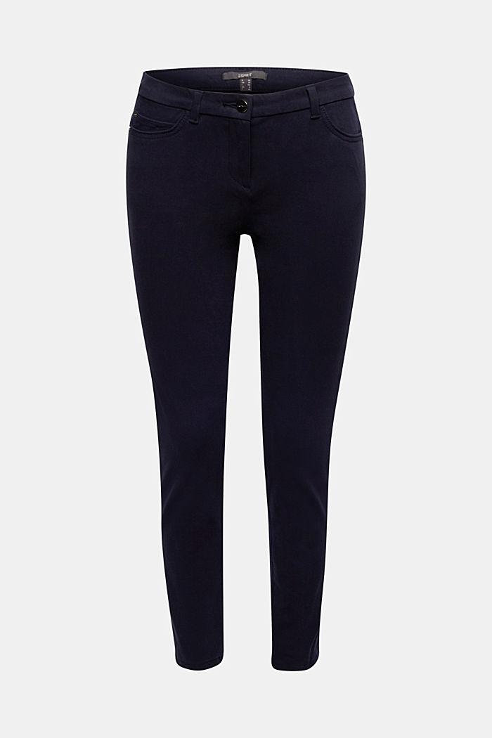 Con TENCEL™: pantalón bielástico, NAVY, detail image number 6