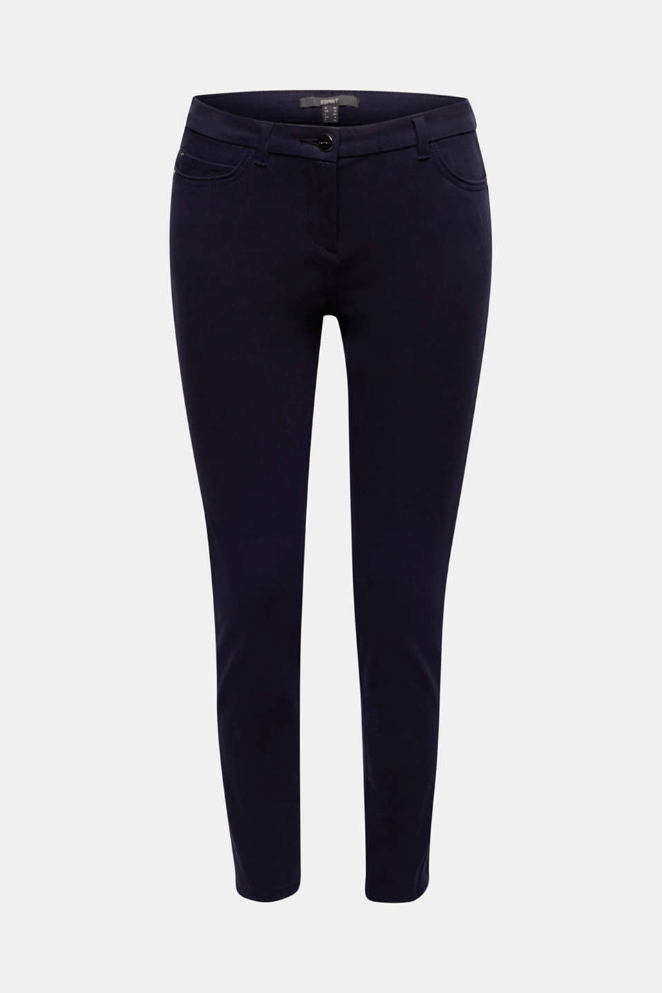 With TENCEL™: bi-stretch trousers, NAVY, detail image number 6