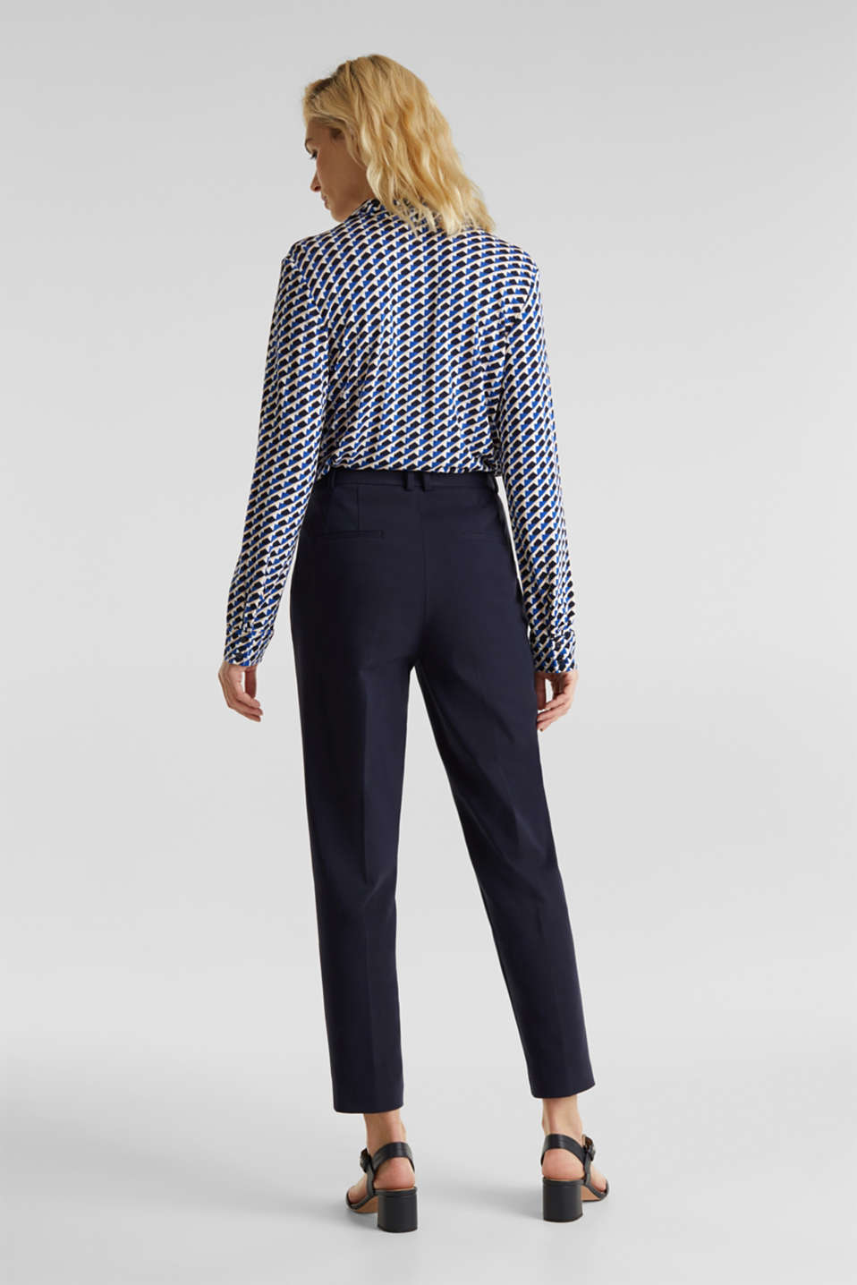 MODERN Mix + Match trousers with a high-rise waist, NAVY, detail image number 3