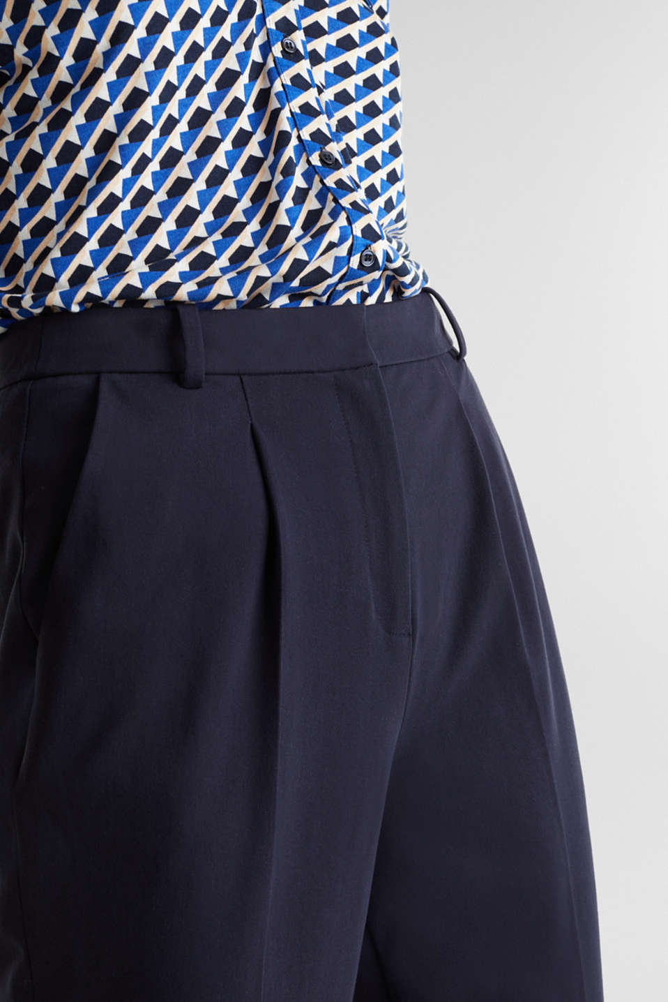 MODERN Mix + Match trousers with a high-rise waist, NAVY, detail image number 2