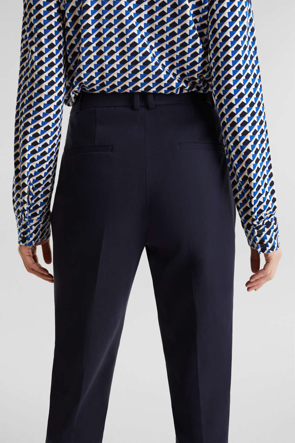 MODERN Mix + Match trousers with a high-rise waist, NAVY, detail image number 5
