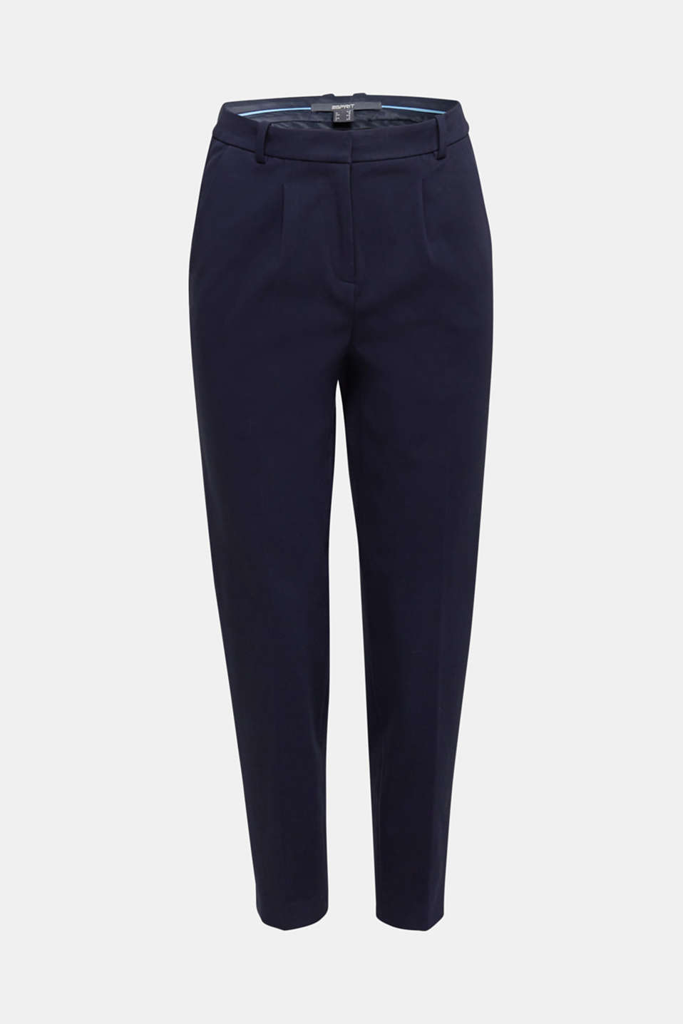 MODERN Mix + Match trousers with a high-rise waist, NAVY, detail image number 7