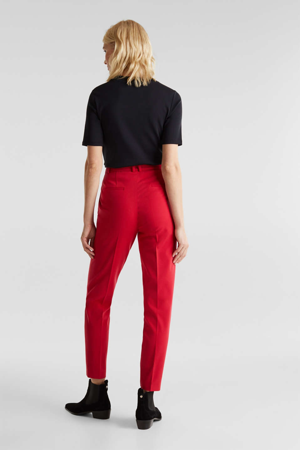 MODERN Mix + Match trousers with a high-rise waist, RED, detail image number 3