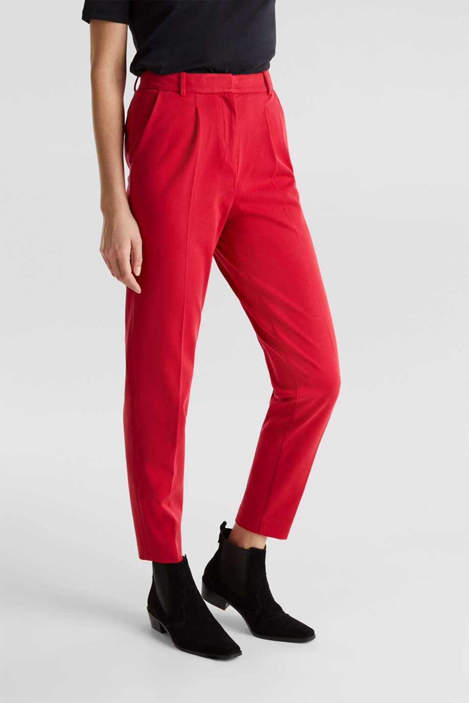 MODERN Mix + Match trousers with a high-rise waist, RED, detail image number 6