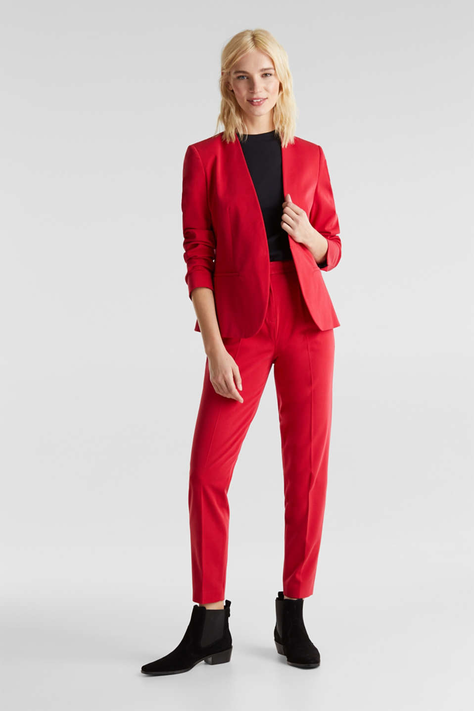 MODERN Mix + Match trousers with a high-rise waist, RED, detail image number 1