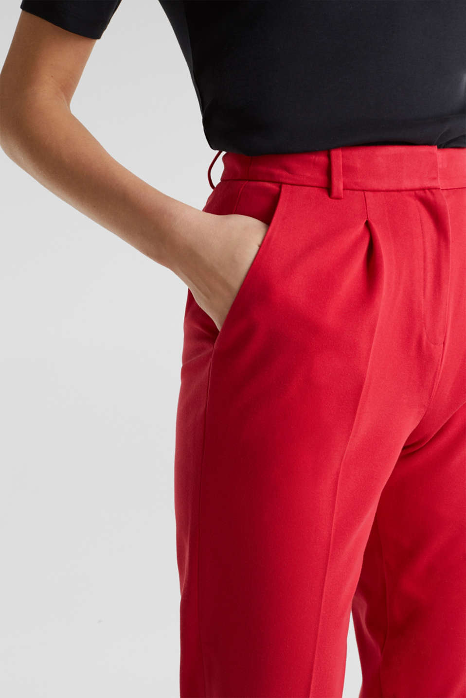 MODERN Mix + Match trousers with a high-rise waist, RED, detail image number 2