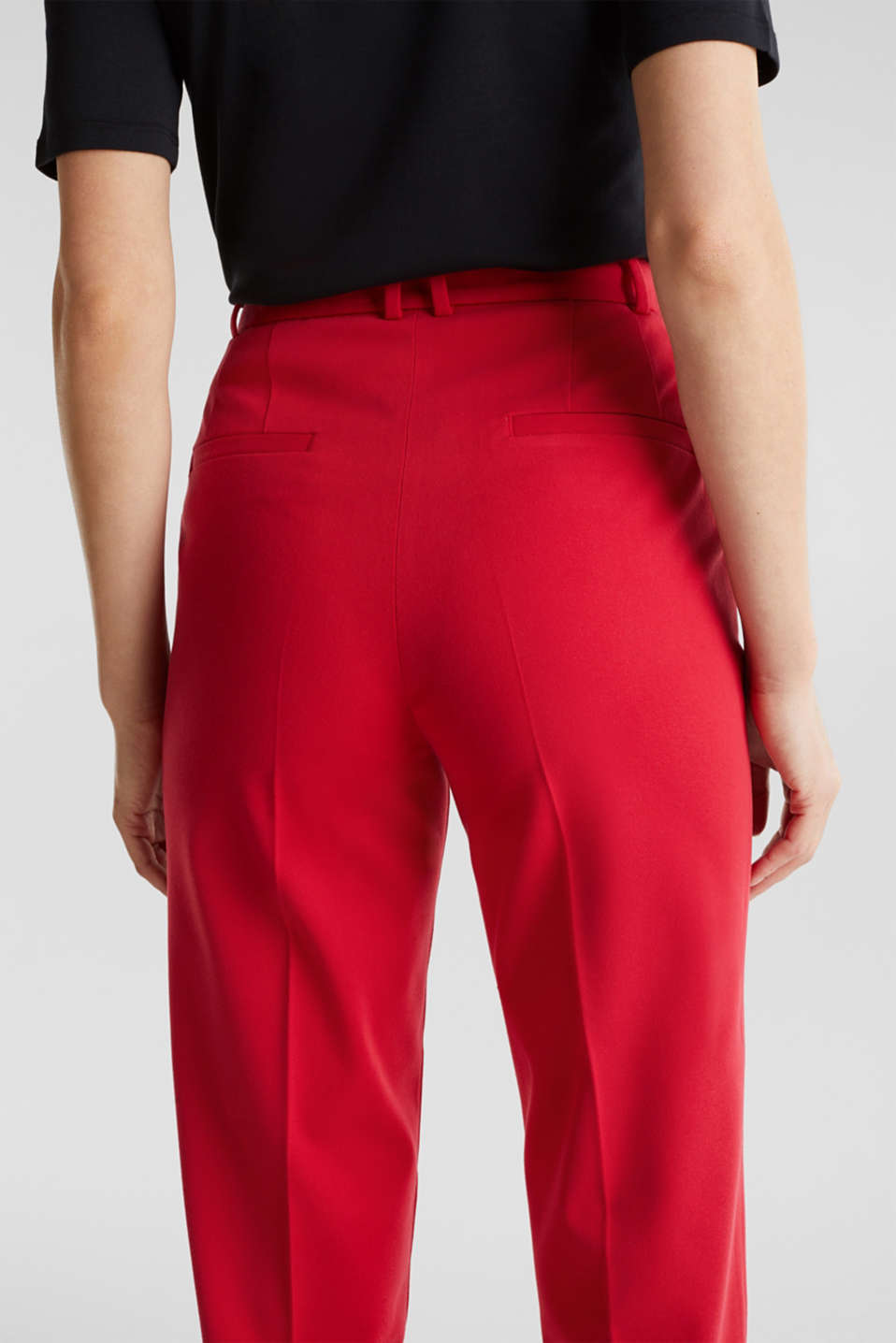 MODERN Mix + Match trousers with a high-rise waist, RED, detail image number 5