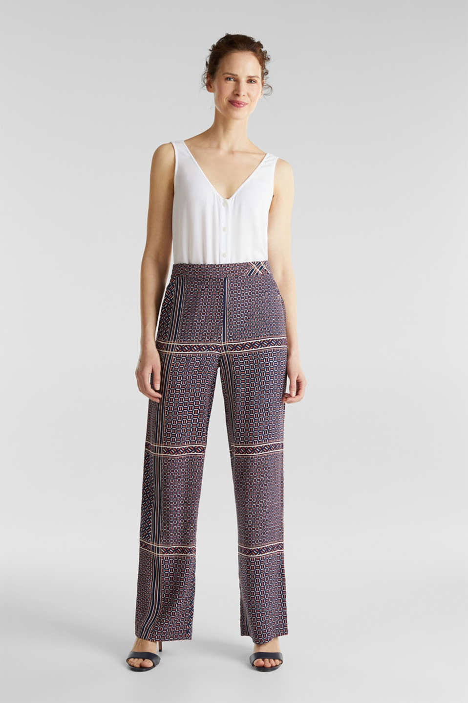 Esprit - Palazzo Trousers with a modern tribal print