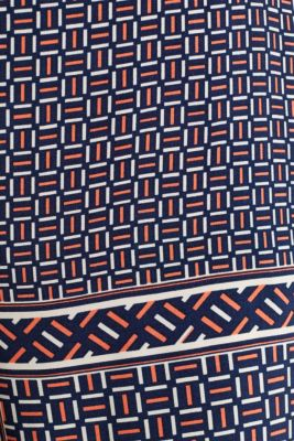 Palazzo Trousers with a modern tribal print, NAVY, detail