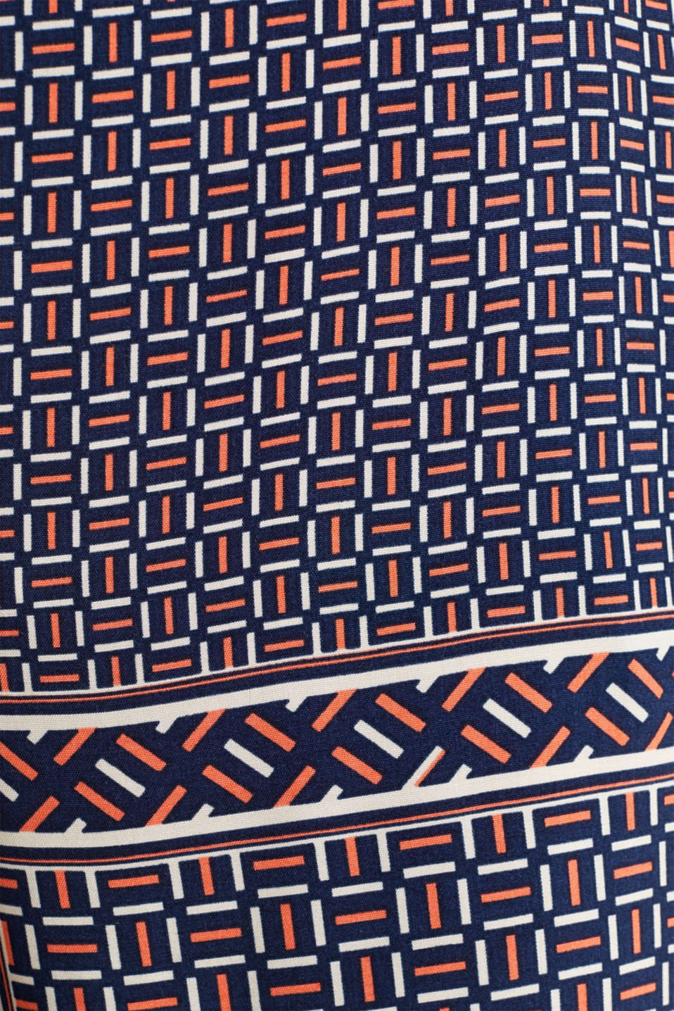 Palazzo Trousers with a modern tribal print, NAVY, detail image number 3