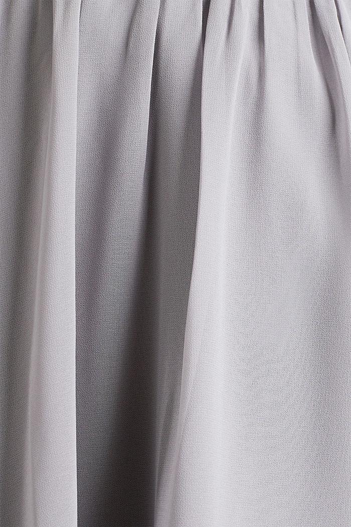 Swirling chiffon skirt, GREY, detail image number 4