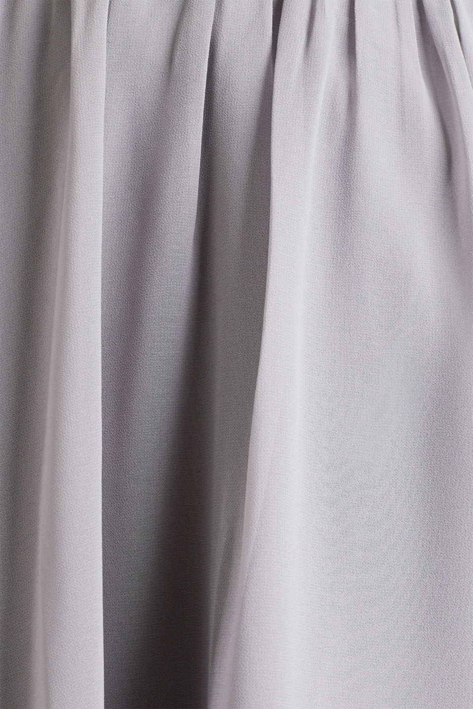 Swirling chiffon skirt, GREY, detail image number 4