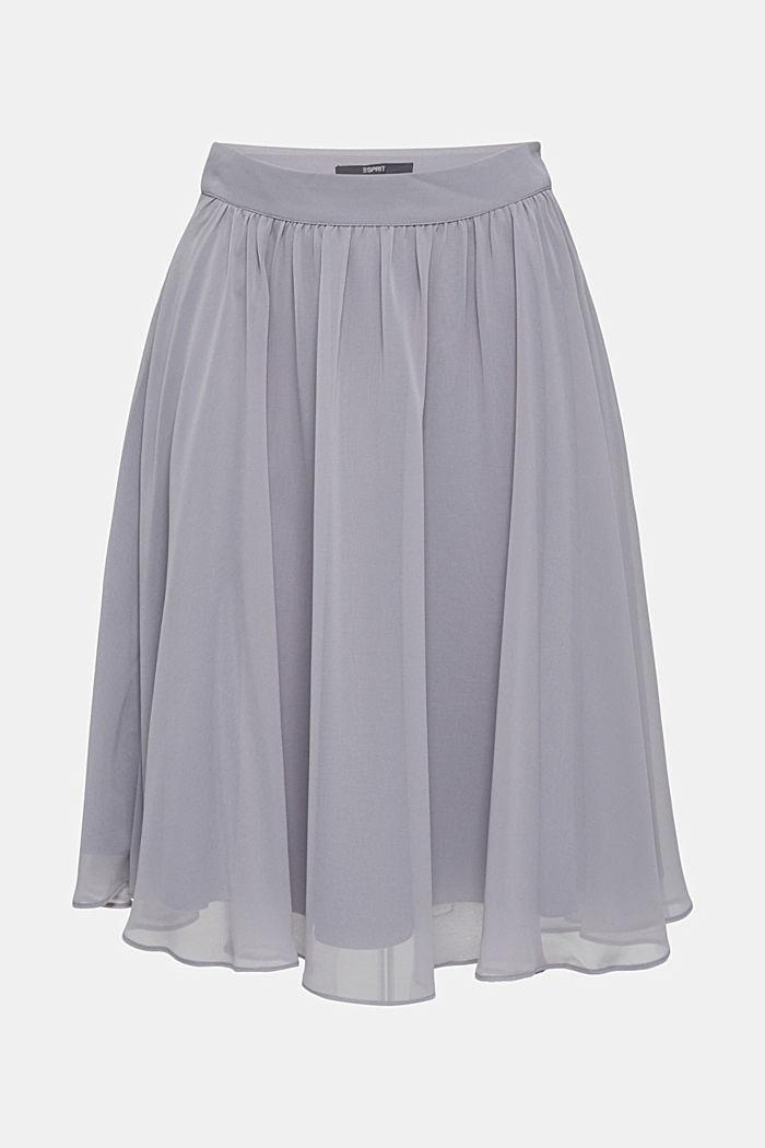 Swirling chiffon skirt, GREY, detail image number 5