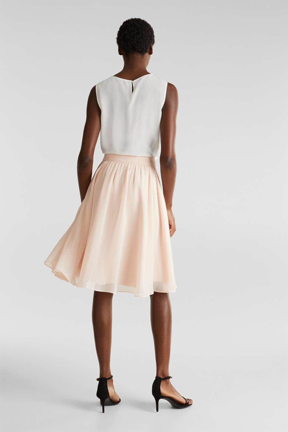 Swirling chiffon skirt, PASTEL PINK, detail image number 3