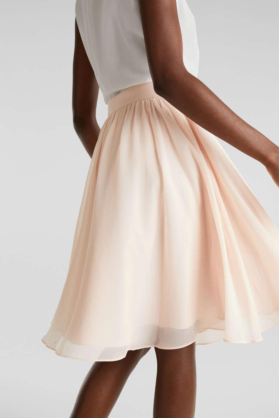 Swirling chiffon skirt, PASTEL PINK, detail image number 5