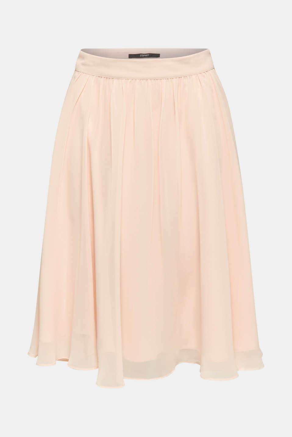 Swirling chiffon skirt, PASTEL PINK, detail image number 6