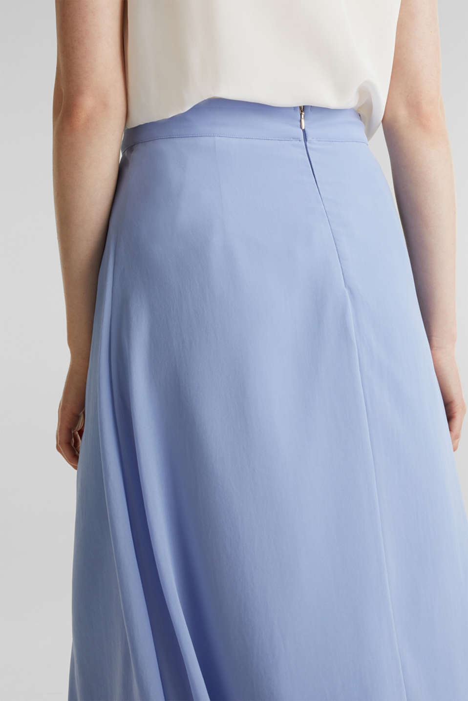 Chiffon skirt with a high-low hem, BLUE LAVENDER, detail image number 5