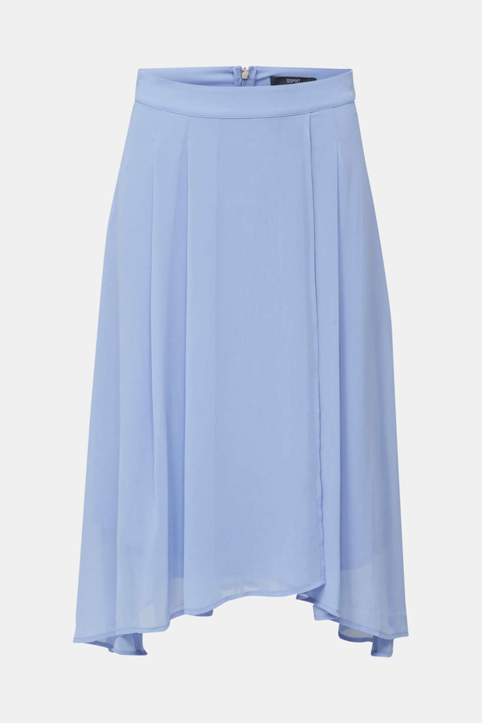 Chiffon skirt with a high-low hem, BLUE LAVENDER, detail image number 7