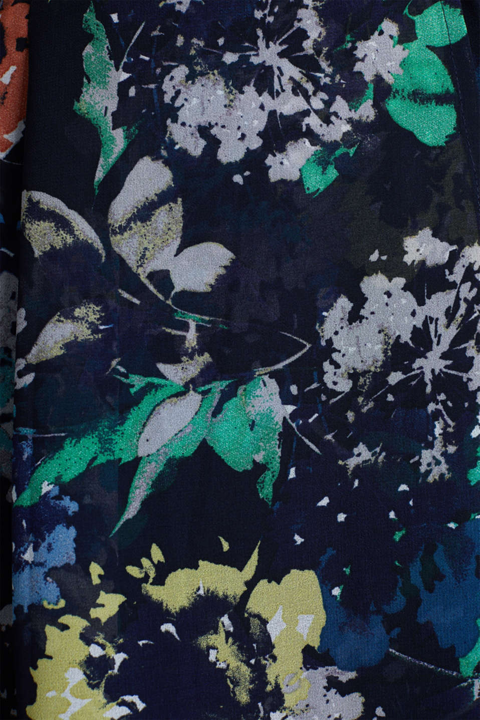 Crêpe skirt with a print, NAVY 4, detail image number 4