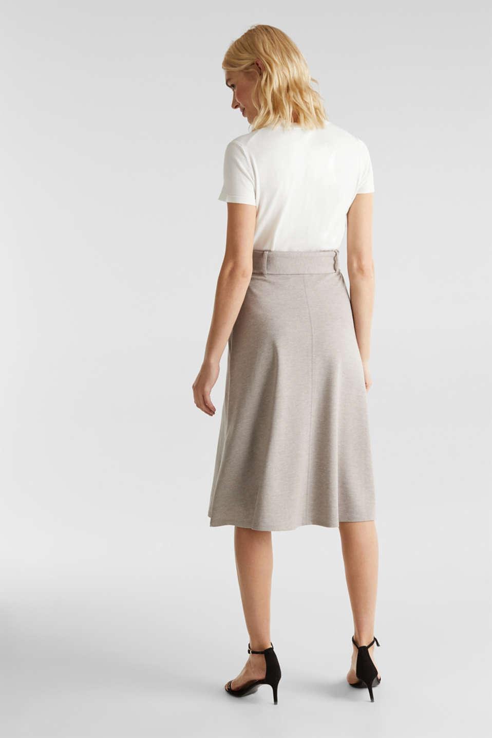 Melange A-line jersey skirt, LIGHT BEIGE, detail image number 3