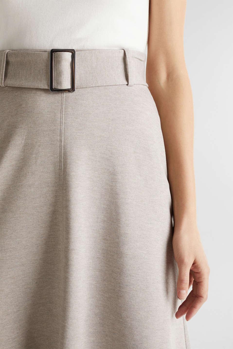 Melange A-line jersey skirt, LIGHT BEIGE, detail image number 2