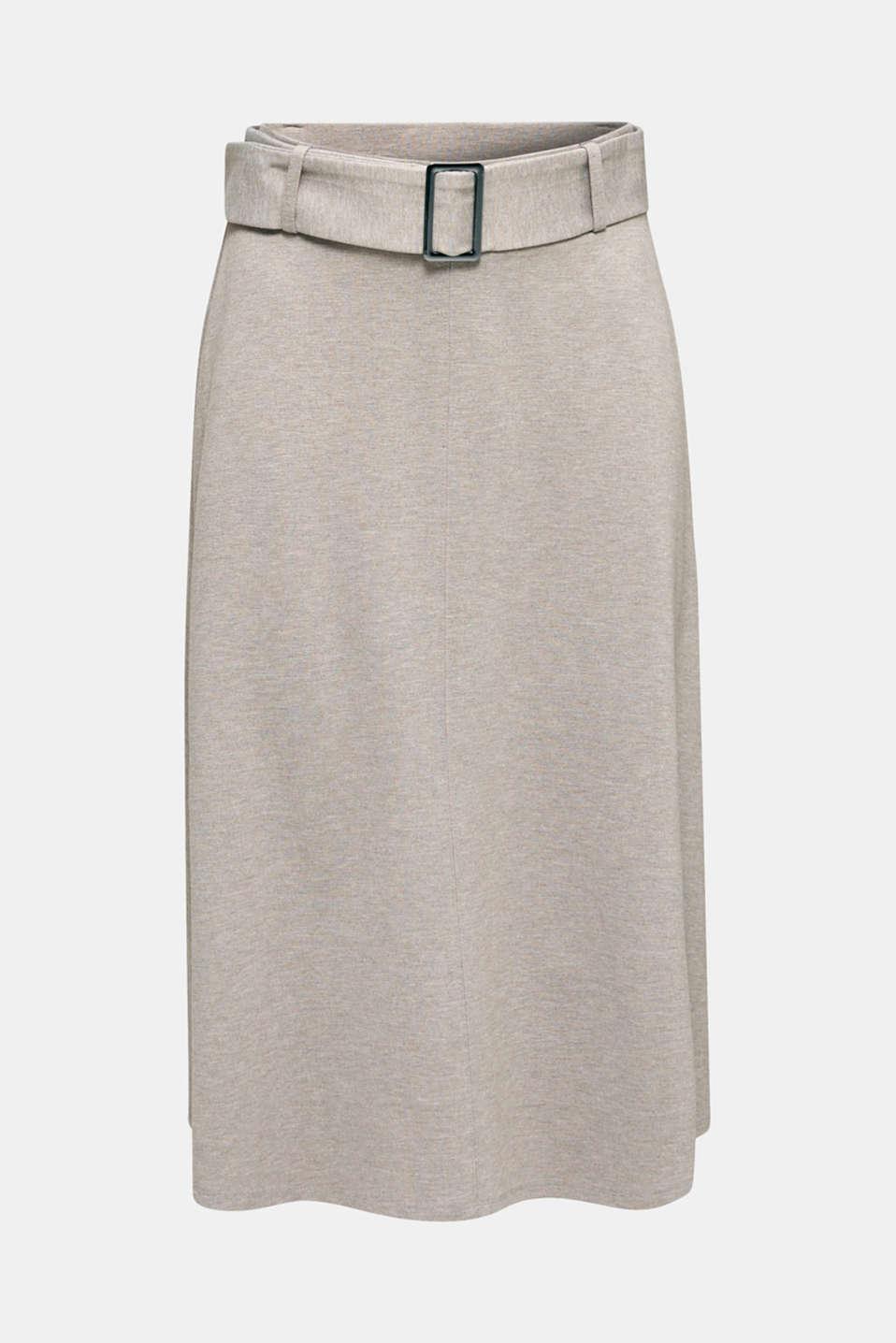 Melange A-line jersey skirt, LIGHT BEIGE, detail image number 7