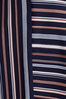 Crêpe skirt with a striped print, NAVY 2, detail
